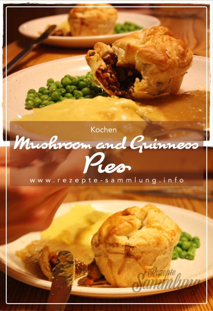 Mushroom and Guinness Pies
